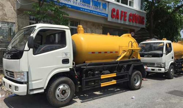 hút bể phốt tại Trương Định